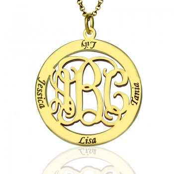 Personalized Monogram and Name Necklace