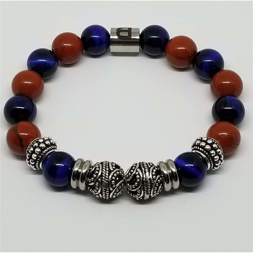 Blue and Orange 12mm Bracelet