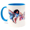 La Borinqueña Red/Blue Personalized Mug