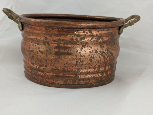 Antique Copper and Bronze Turkish Small Pot