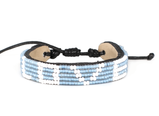 LOVE Bracelet - Light Blue + White