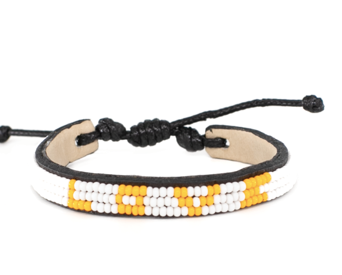 LOVE Bracelet - Skinny Yellow + White