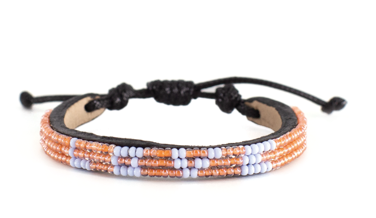 LOVE Bracelet - Skinny Peach + Light Violet