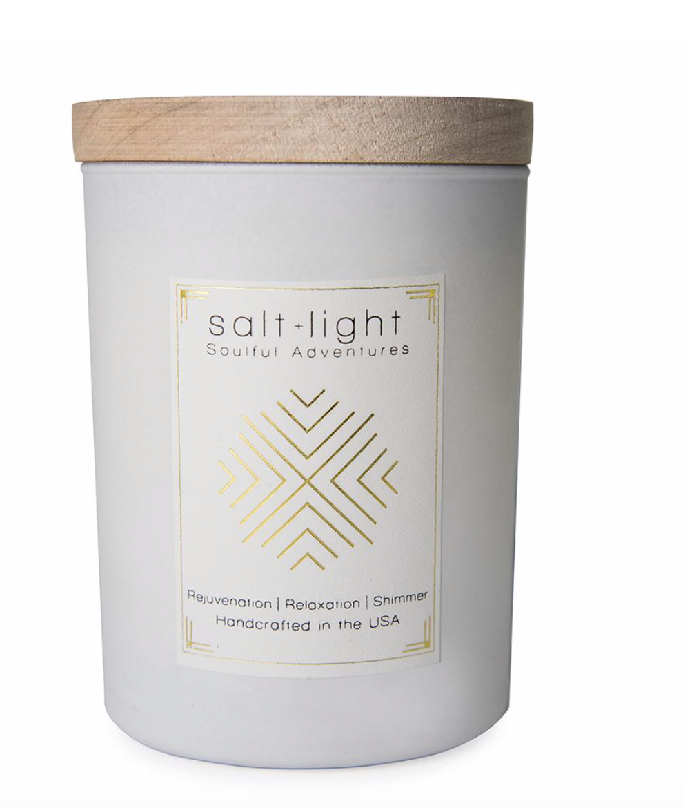 Ethics Supply Co. Salt + Light Candle - White Orchid, Lilac + Gardenia