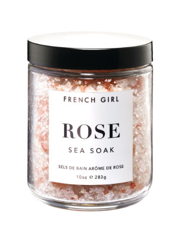 French Girl Organics Calming Rose Sea Soak