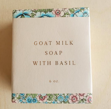 Saipua Soap - Goat Milk with Basil
