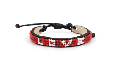 LOVE Bracelet - Skinny Red + White