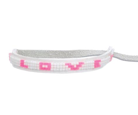 Love Is Project Bracelet Thin Hot Pink