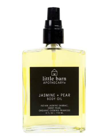 Little Barn Apothecary Jasmine + Pear Body Oil