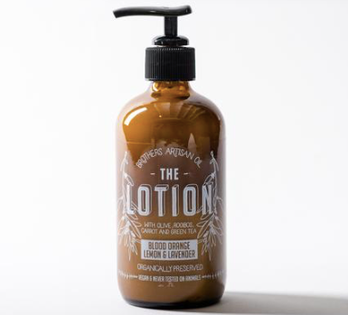 Brothers Artisan Oil Body Lotion in Blood Orange, Lemon + Lavender