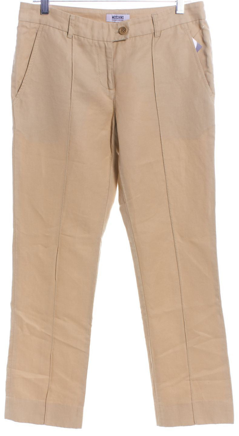 MOSCHINO CHEAP & CHIC Beige Khaki Slim Pants - 1000CUBED