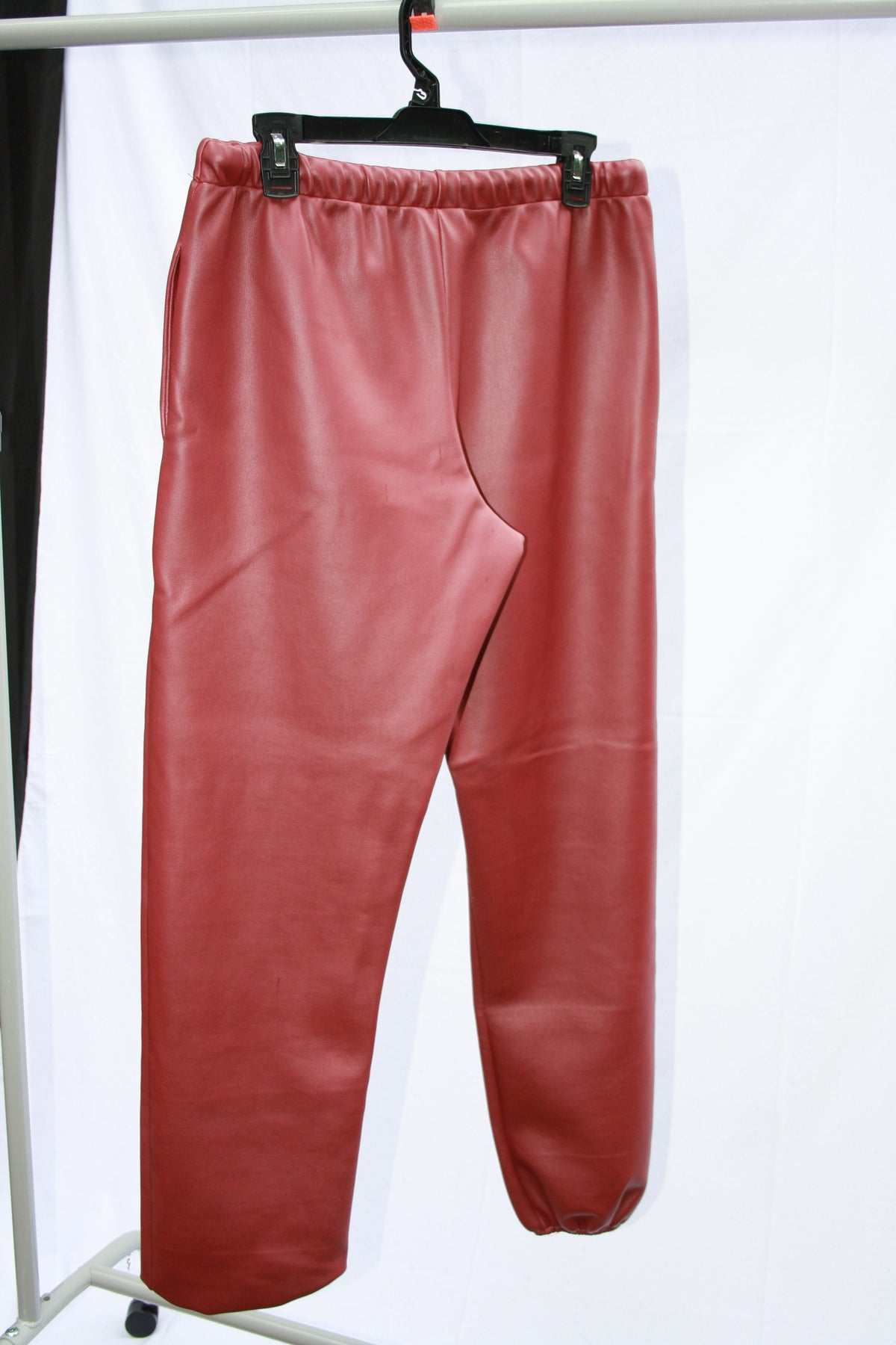 * Faux Leather Joggers
