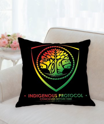 Indigenous Protocol black pillow