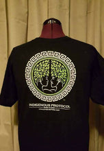 Shirt: Black Crew Neck: Concave Series. Indigenous Protocol (TM).