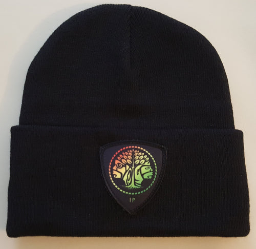 Indigenous Protocol beanie with Logo. Indigenous Protocol (TM).