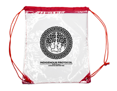 CLEAR DRAWSTRING BACKPACKS  !