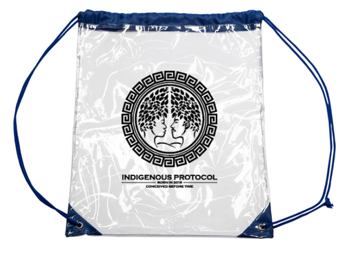 CLEAR DRAWSTRING BACKPACK !