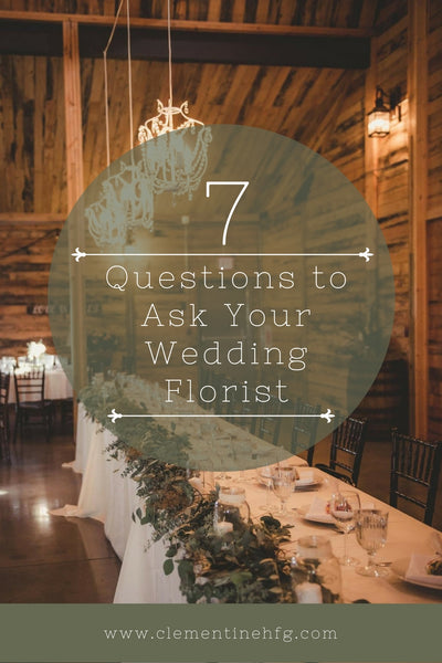 8 Questions to Ask Your Wedding Florist