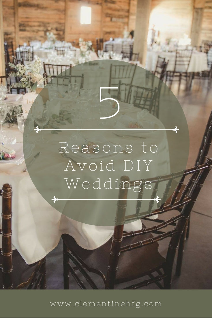 5 Reasons To Avoid DIY While Planning Your Wedding