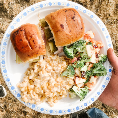 Harvest Meal #1 : Cuban Sliders, Mexican Street Corn Casserole & Sunshine Broccoli Salad