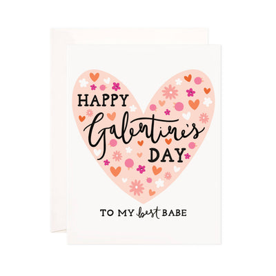 Best Babe Galentine Greeting Card