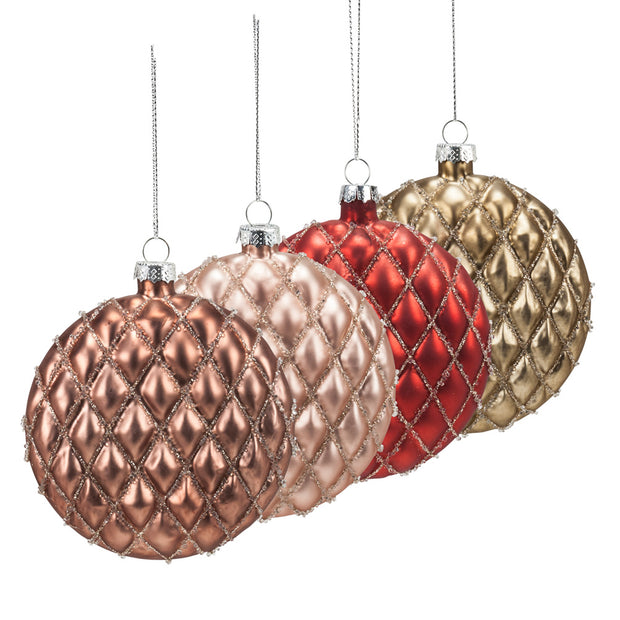 Quilted Disc Ornament