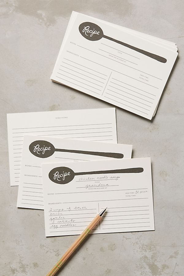 Charcoal Spoons Recipe Cards