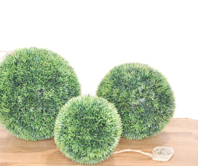 Faux Grass Spheres