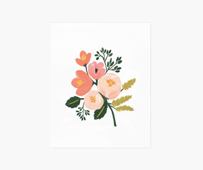 Rose Botanical Print, Illustrated Print