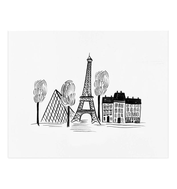 Paris Sketch, Illustrated Print