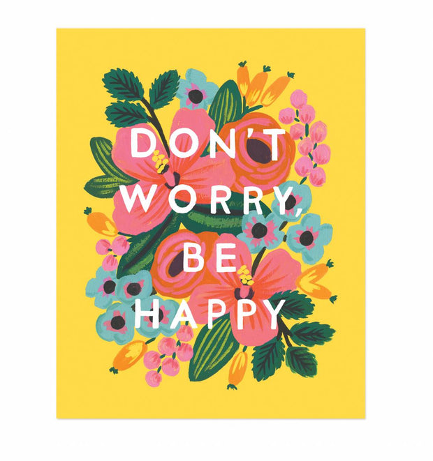 Don't Worry, Be Happy Illustrated Print