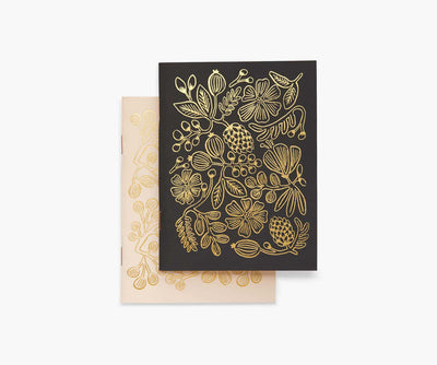 Gold Foil Pocket Notebooks : Pair of 2