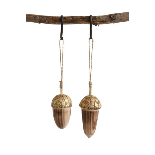 Wooden Acorn Ornament