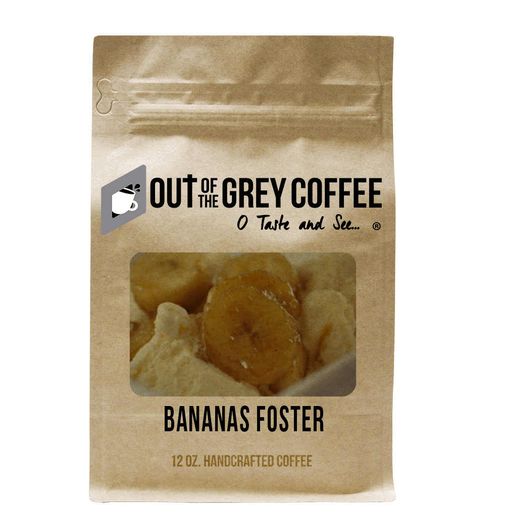 Bananas Foster Flavored Organic Coffee - Out Of The Grey Coffee