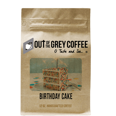 Birthday Cake Flavored Organic Coffee - Out Of The Grey Coffee