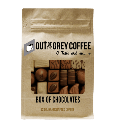 Box of Chocolates Flavored Organic Coffee