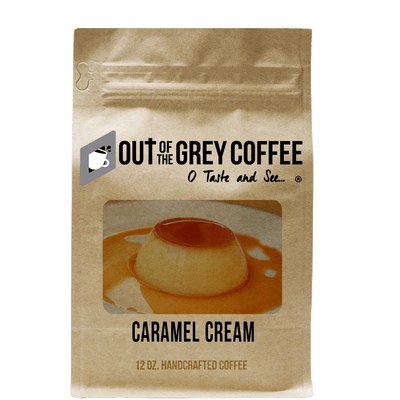 Caramel Cream Flavored Organic Coffee - Out Of The Grey Coffee