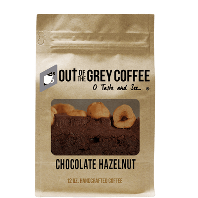 Chocolate Hazelnut Flavored Organic Coffee - Out Of The Grey Coffee
