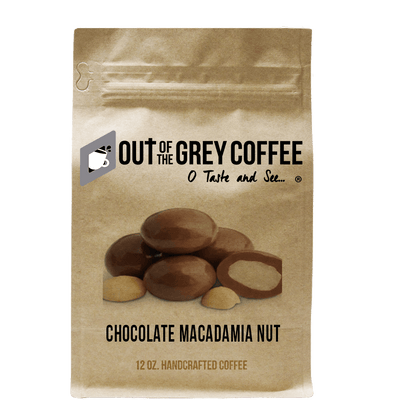 Chocolate Macadamia Nut Flavored Organic Coffee - Out Of The Grey Coffee