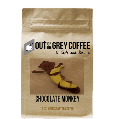 Chocolate Monkey Flavored Organic Coffee - Out Of The Grey Coffee