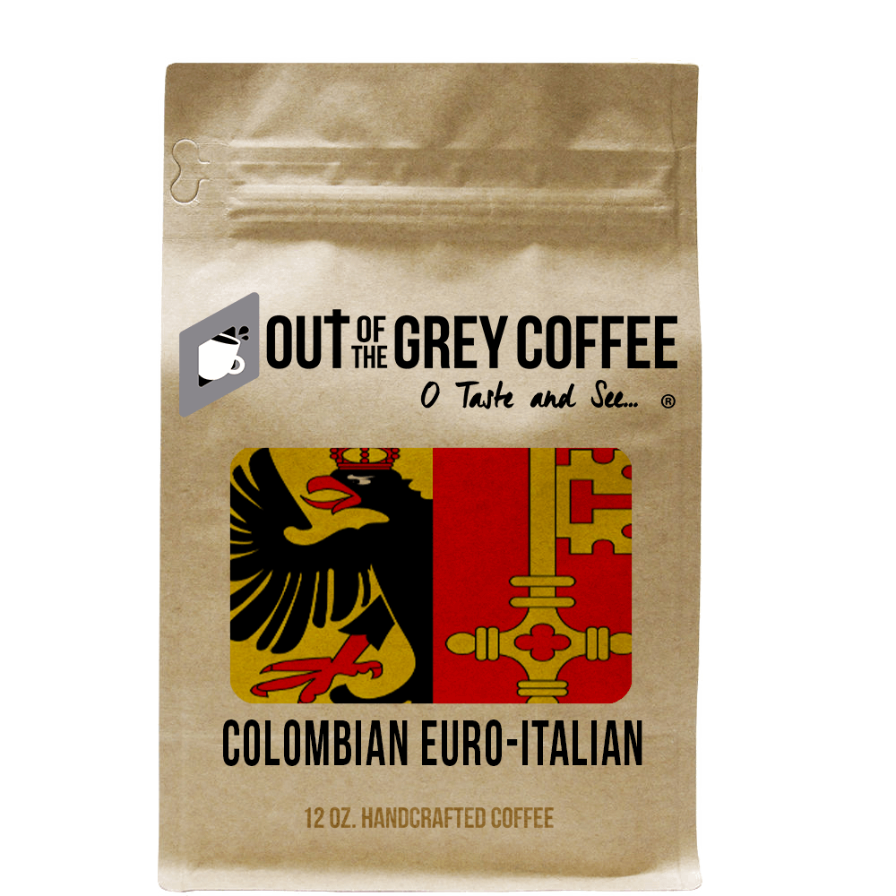 "Single Origin Colombian Supremo ""Euro-Italian"" Organic Coffee - Out Of The Grey Coffee"