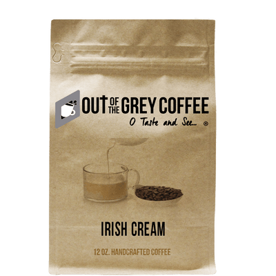 Irish Cream Flavored Organic Coffee - Out Of The Grey Coffee