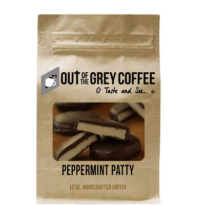 Peppermint Patty Flavored Organic Coffee - Out Of The Grey Coffee