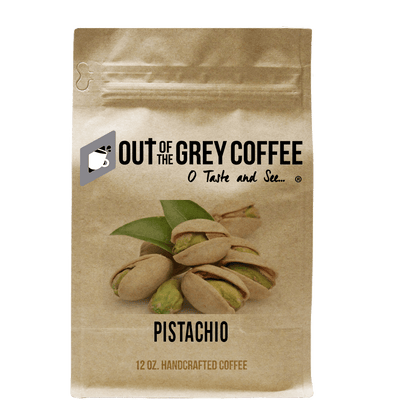 Pistachio Flavored Organic Coffee - Out Of The Grey Coffee