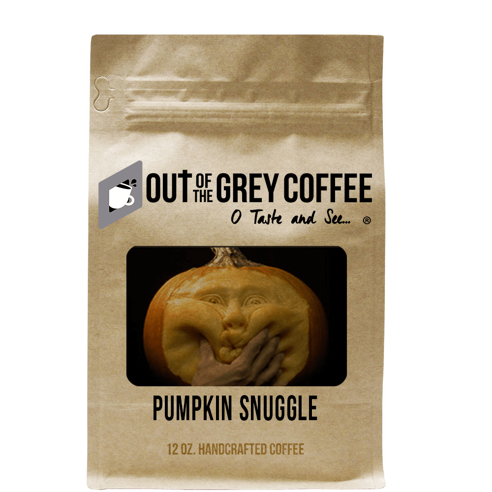 Pumpkin Snuggle Flavored Organic Coffee - Out Of The Grey Coffee