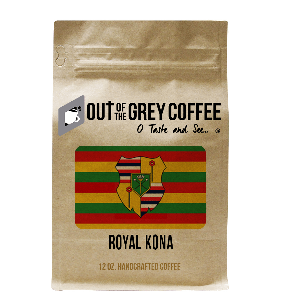 Single Origin Royal Kona Greenwell Estate Extra Fancy Organic Coffee - Out Of The Grey Coffee