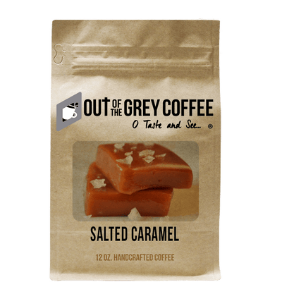 Salted Caramel Flavored Organic Coffee - Out Of The Grey Coffee
