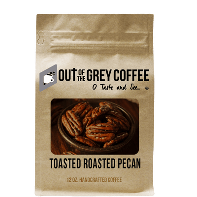 Toasted Roasted Pecan Flavored Organic Coffee - Out Of The Grey Coffee
