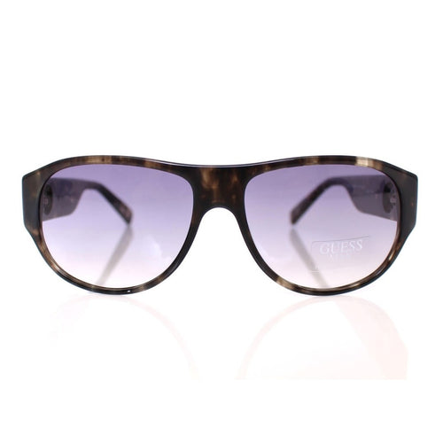 GUESS Brown Plastic Logo Men's Sunglasses