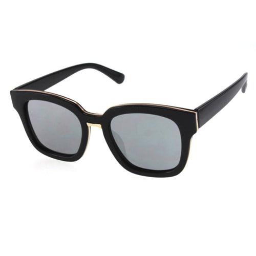 Bold Square Sunglasses with Color Mirror Lenses